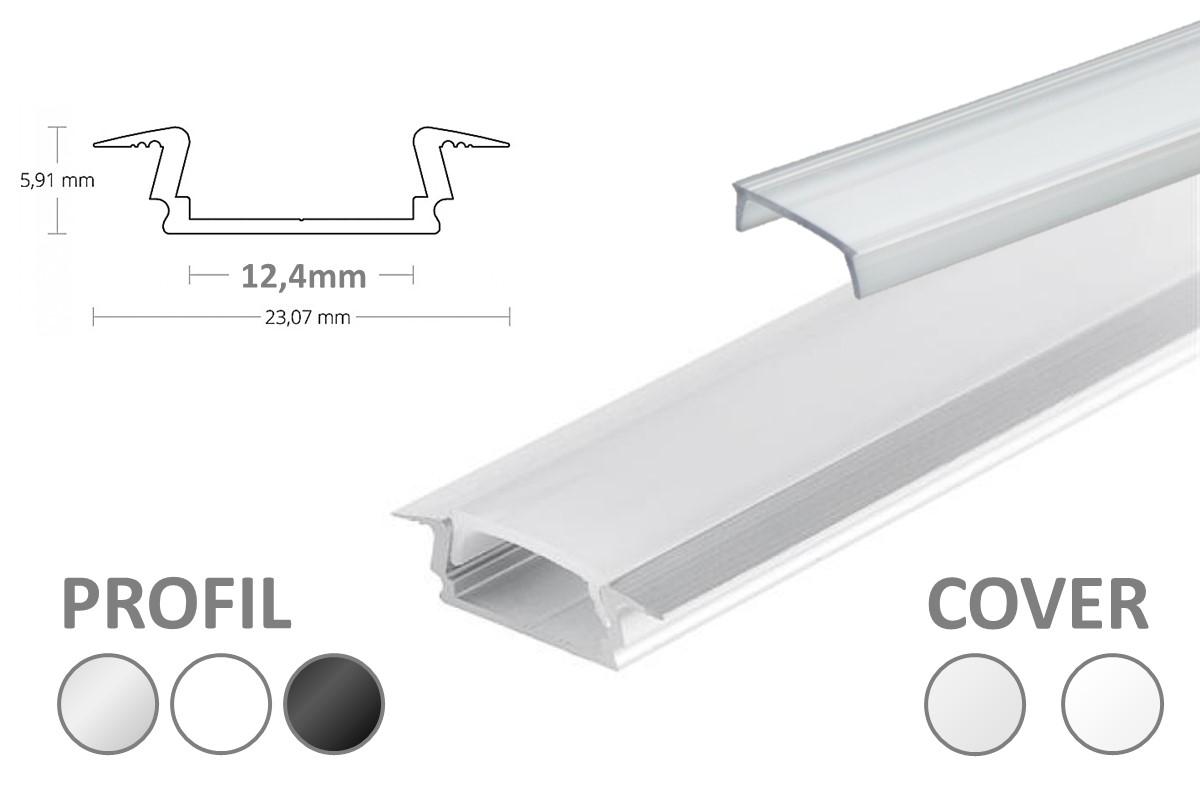 2m LED-Einsatz-Profil PL8