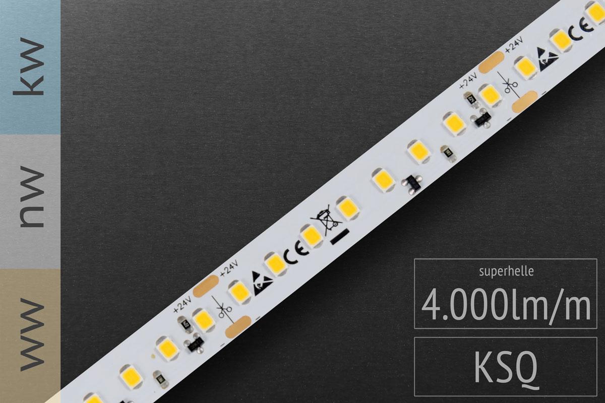 Hellster Streifen im Programm: LED-Streifen 2835 HE - 128 LED/m - 4.000 lm/m