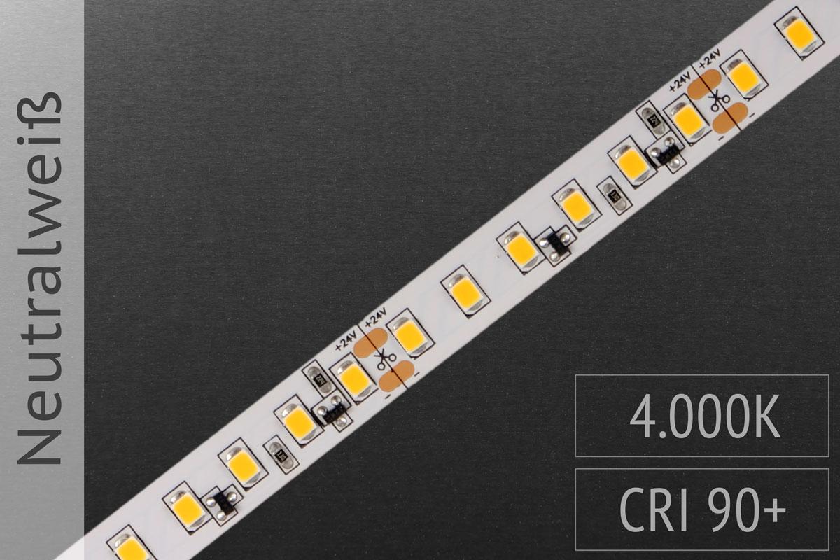 LED-Streifen 2835 NW 4000-4500K, 120LEDs/m, CRI>90, 24V