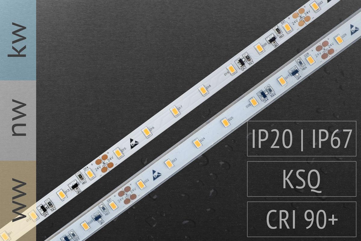 Wasserschutz (IP67) verfügbar: LED-Streifen 3020 - 70 LED/m - 1.500 lm/m