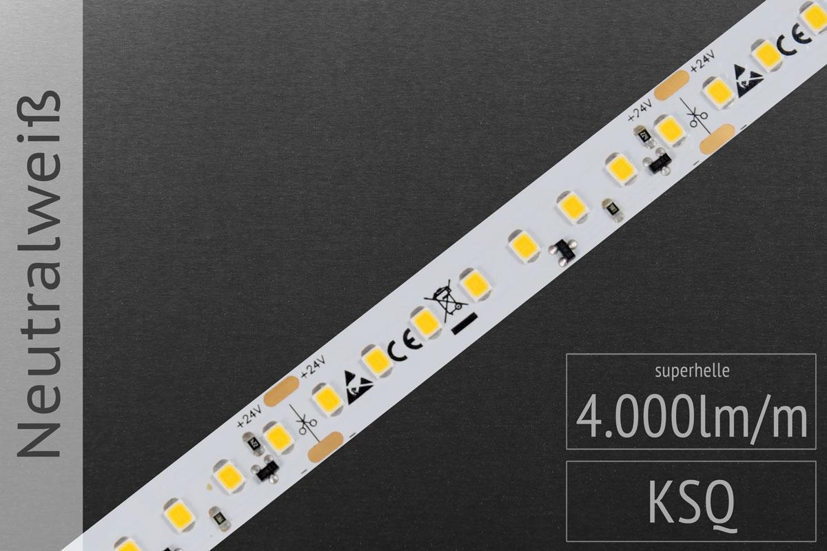 LED-Streifen 2835 - NW 4000K - 4.000lm/m - 24V