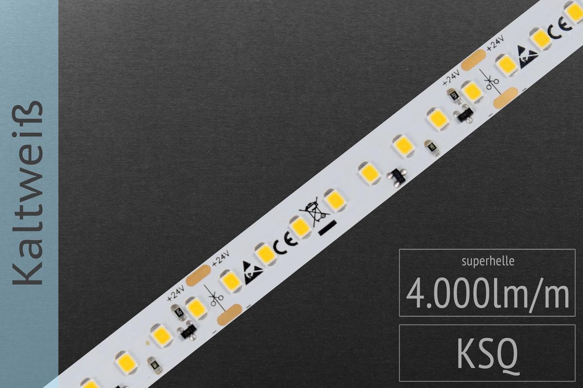 LED-Streifen 2835 - KW 6000K - 4.000lm/m - 24V