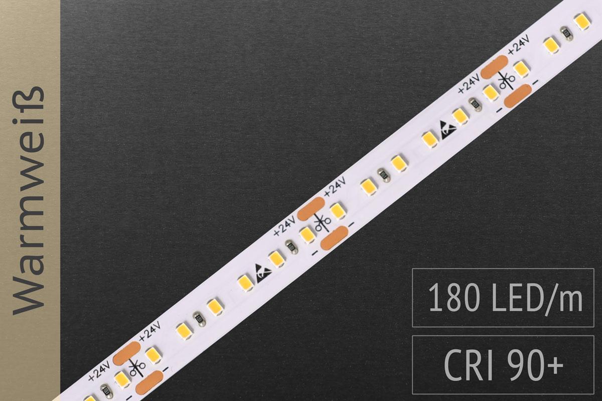LED-Streifen mit 180 LED/m - 1.100 lm/m - warmweiß 3.000K
