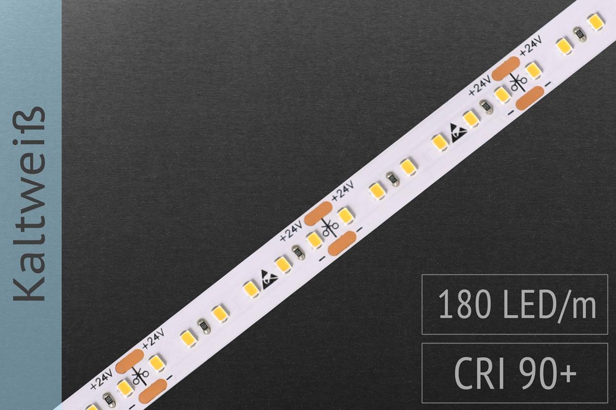 LED-Streifen mit 180 LED/m - 1.300 lm/m - kaltweiß 6.500K