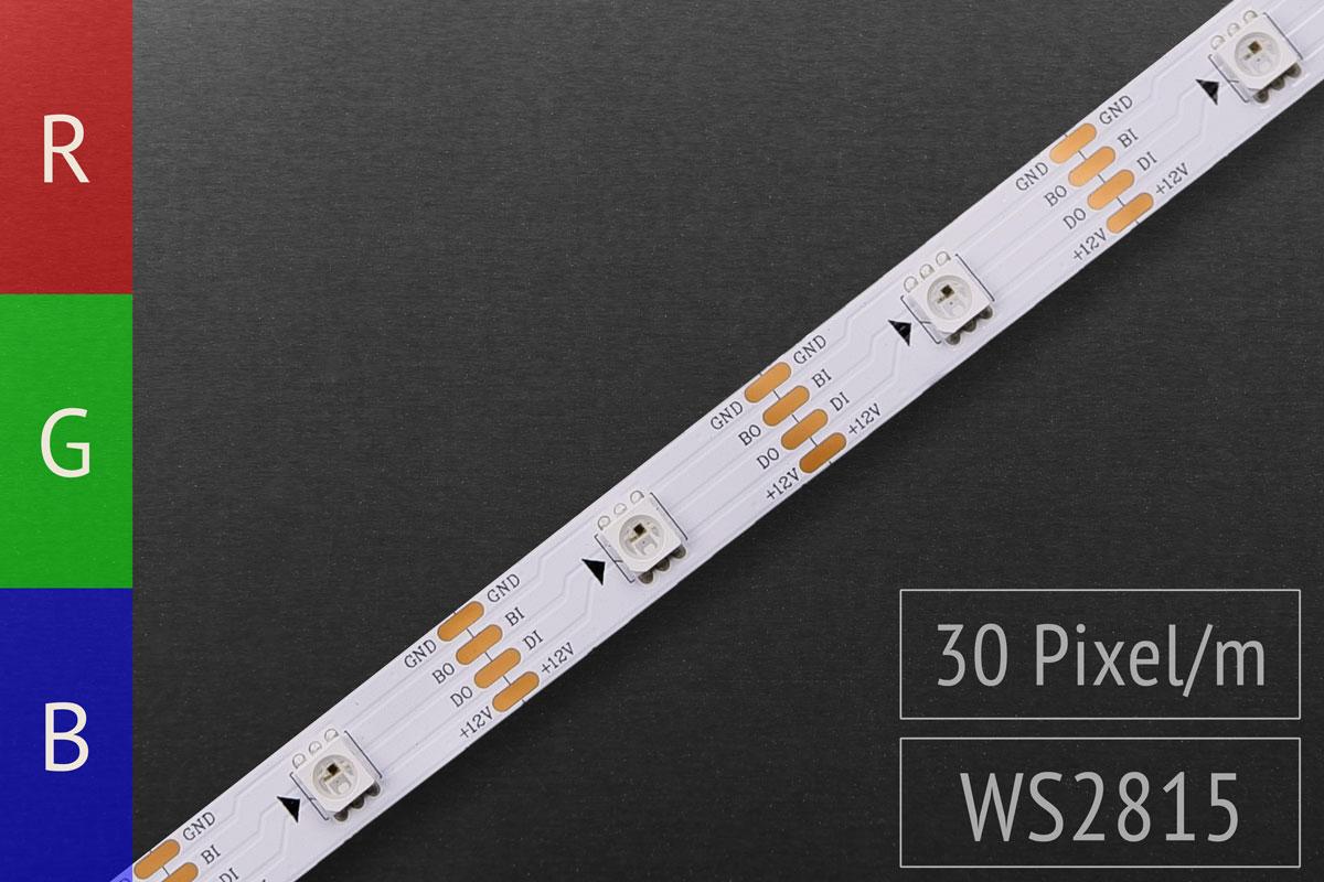 LED-Band digital WS2815 - 30 RGB-LEDs/m - IP20 - 12V