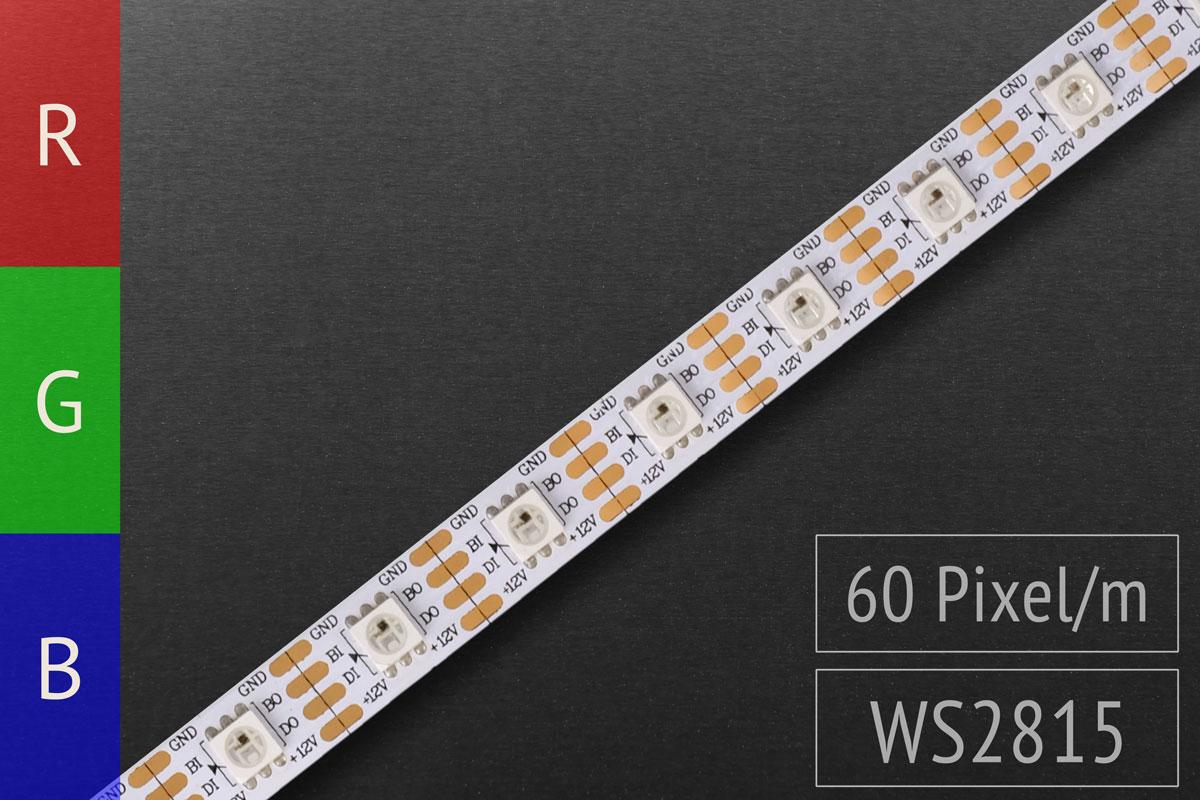 LED-Band digital WS2815 - 60 RGB-LEDs/m - IP20 - 12V