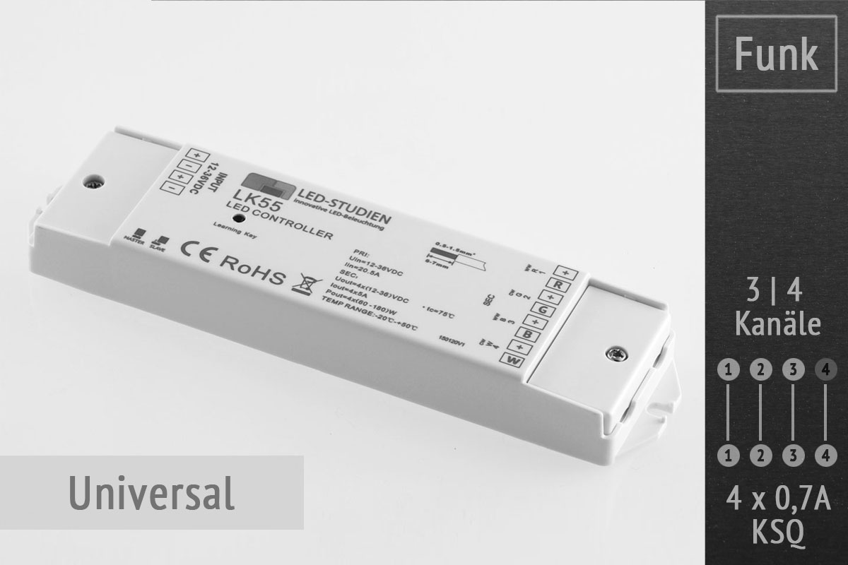 Universal led controller for Koch 4 kanal funk dimmer