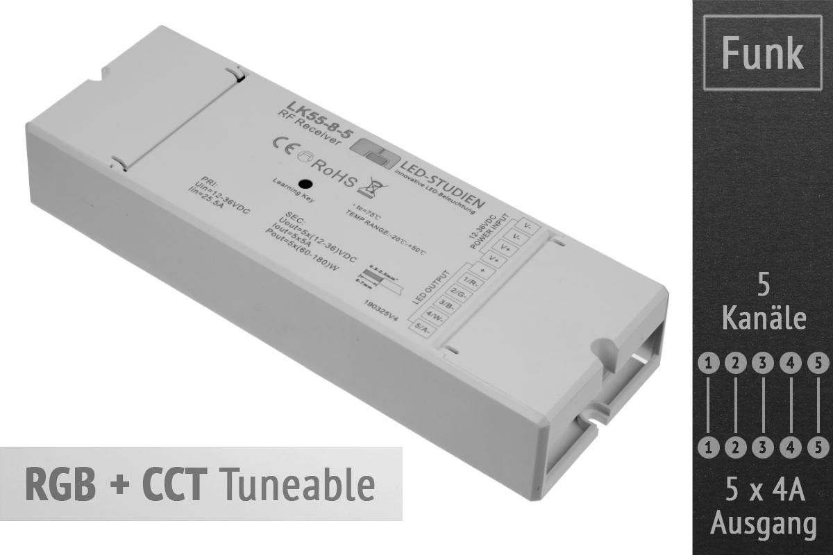 RGB + CCT Controller   5 x 4A