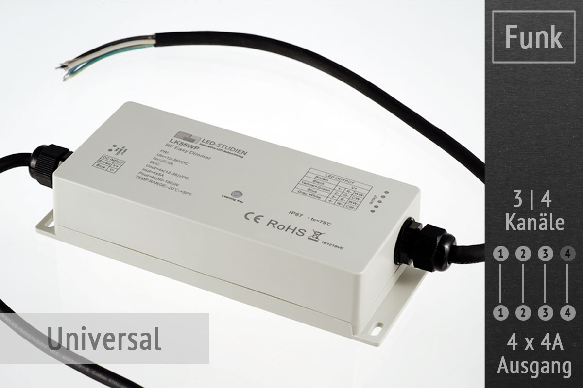 Funk-Controller universal | 4 x 4A | IP67 wasserfest