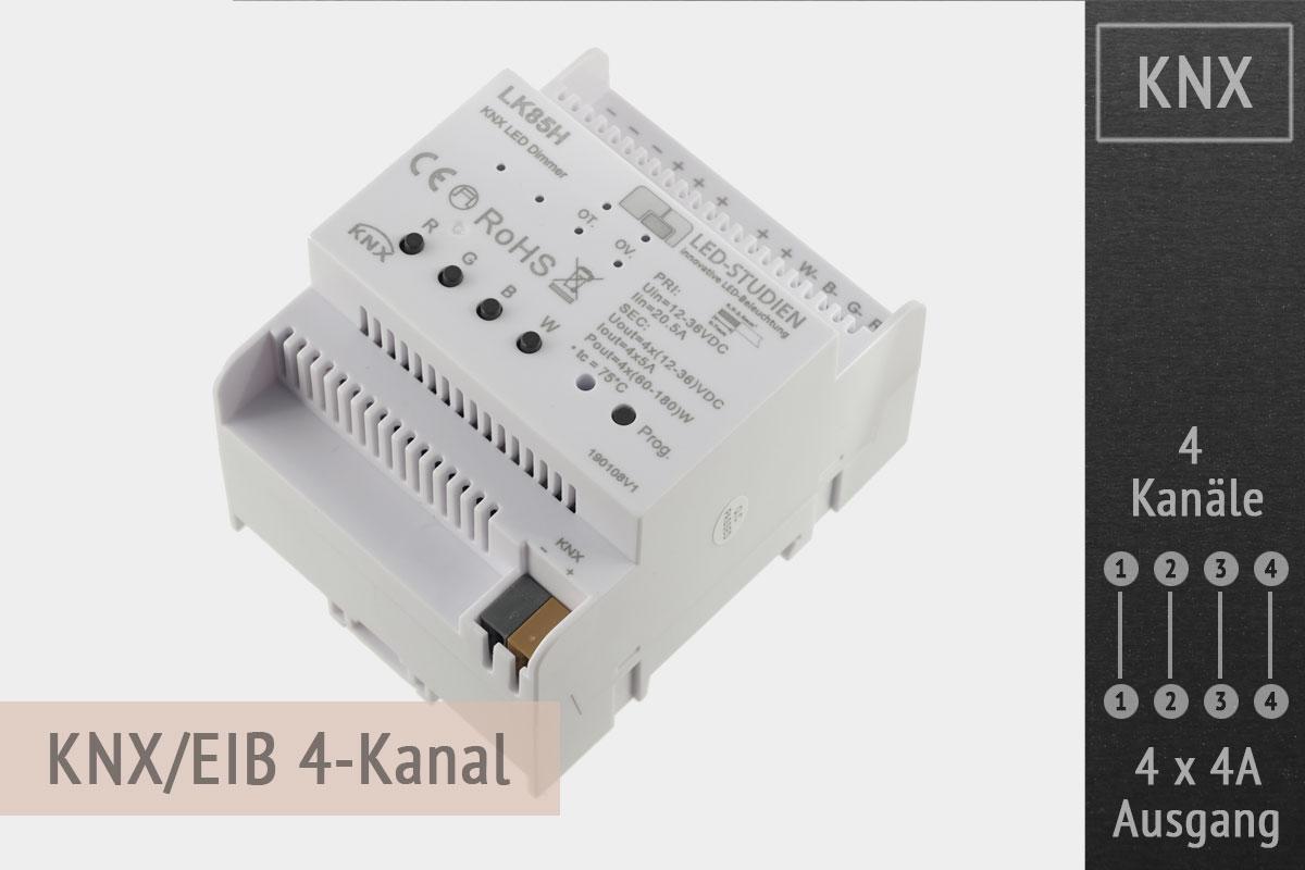 KNX LED-Controller 4-Kanal, 4x4A - Hutschiene