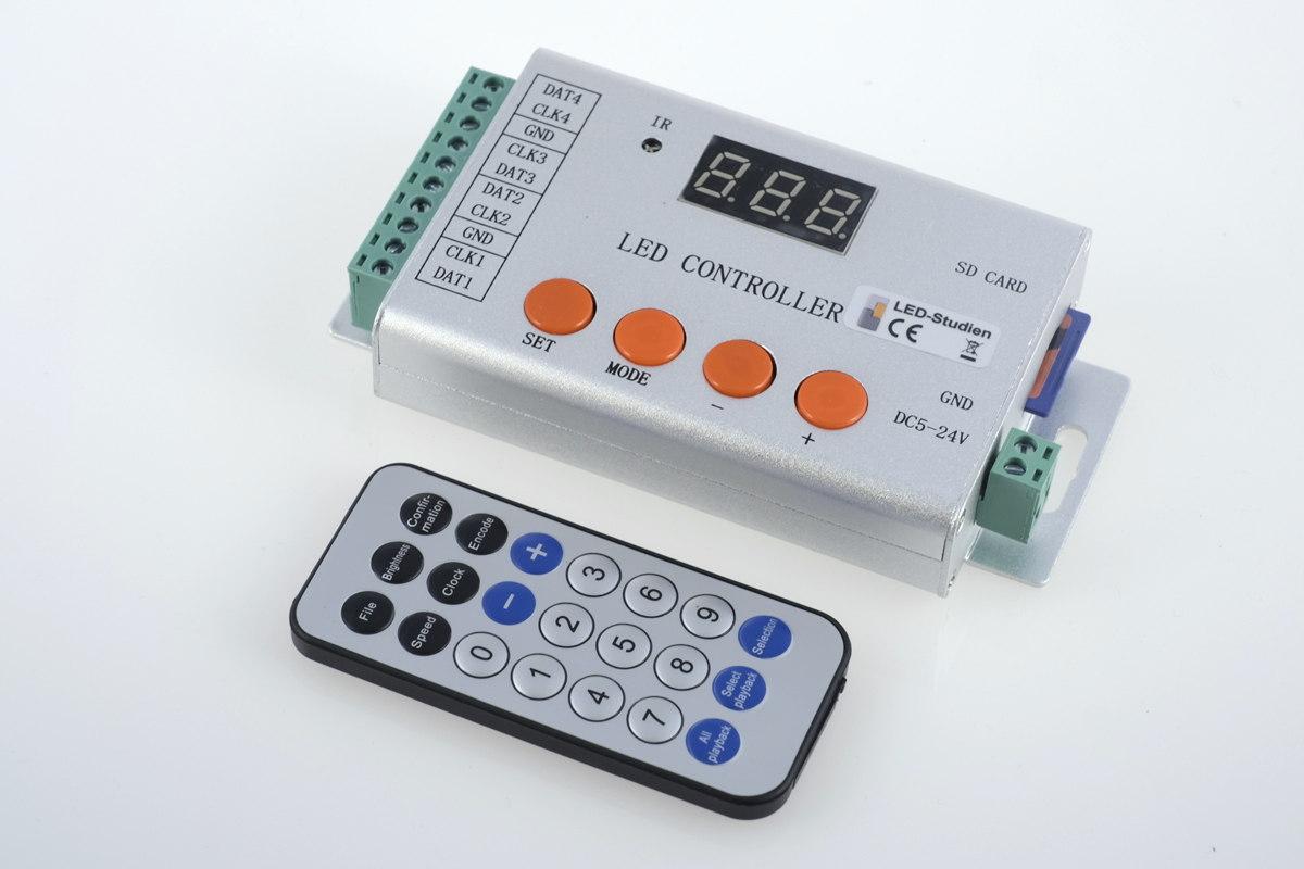 Standalone LED-Pixel-Controller - bis 8.192 Pixel - inkl. SD-Karte & Fernbedienung