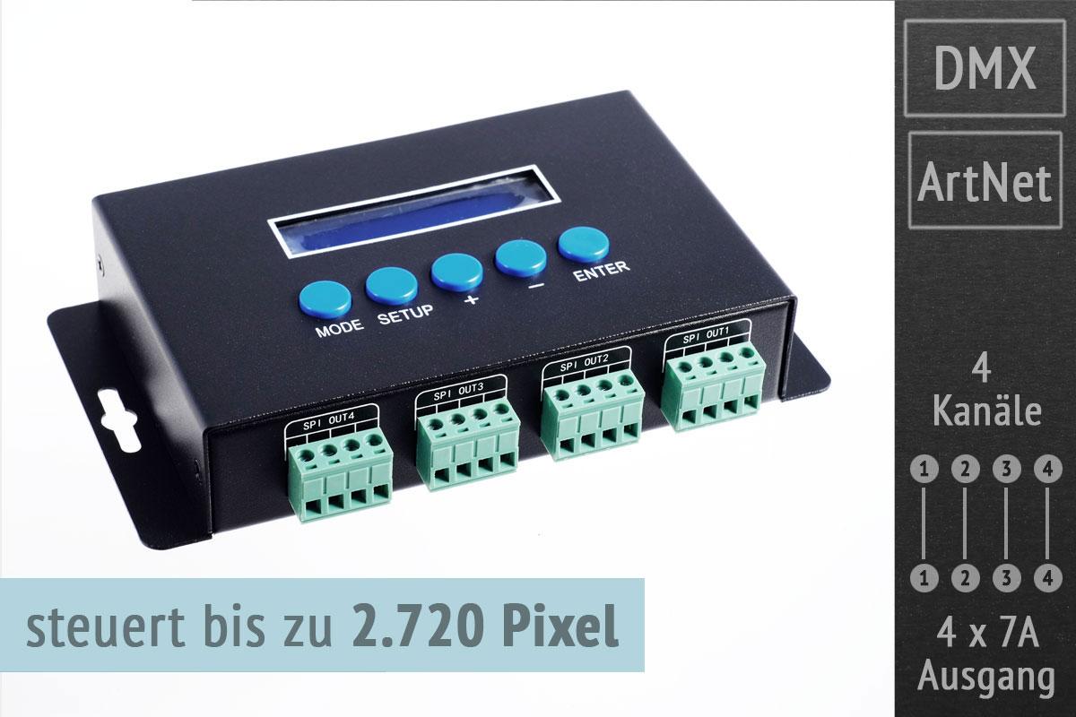 Artnet LED Pixel-Controller für bis zu 2.720 Pixel