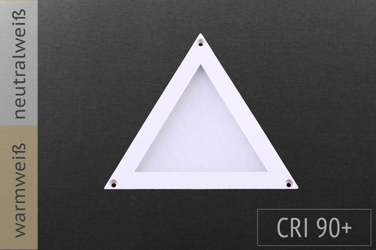 Dreieck, 10x10cm, 2W, 100lm