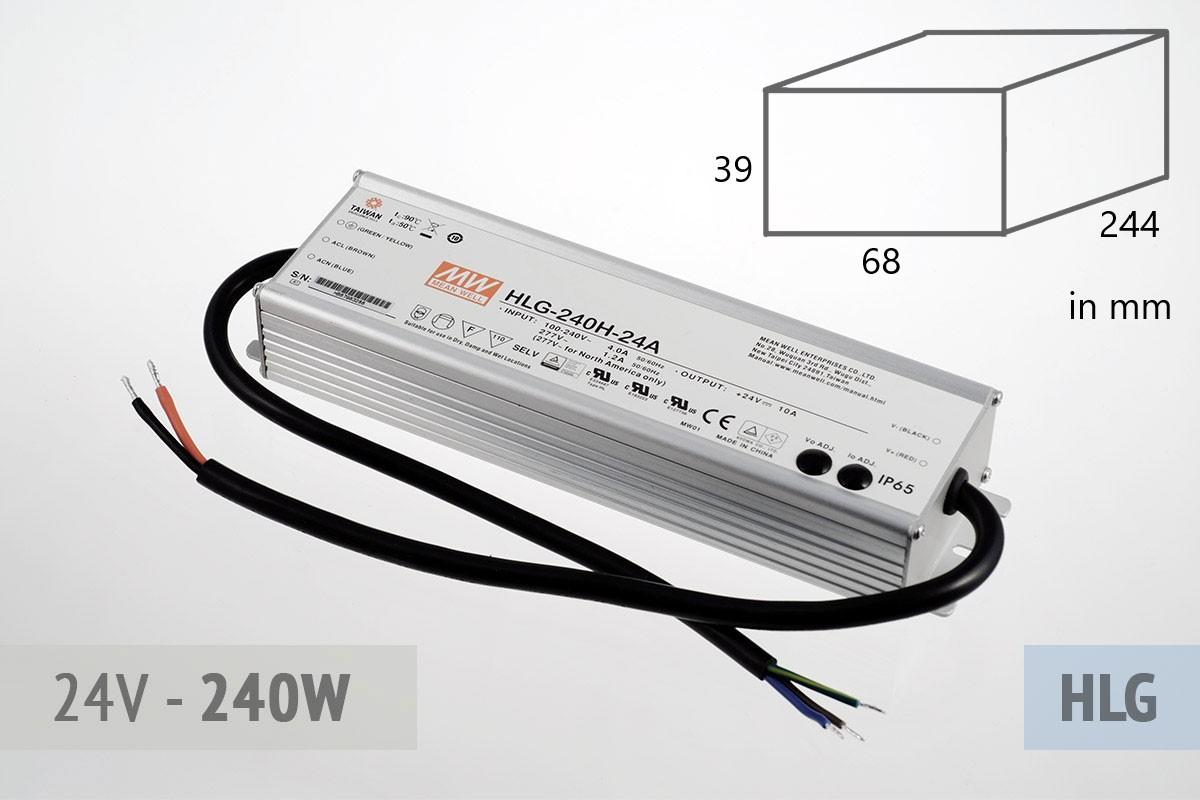 Netzteil 24V - 10A - 240 Watt, extrem leise