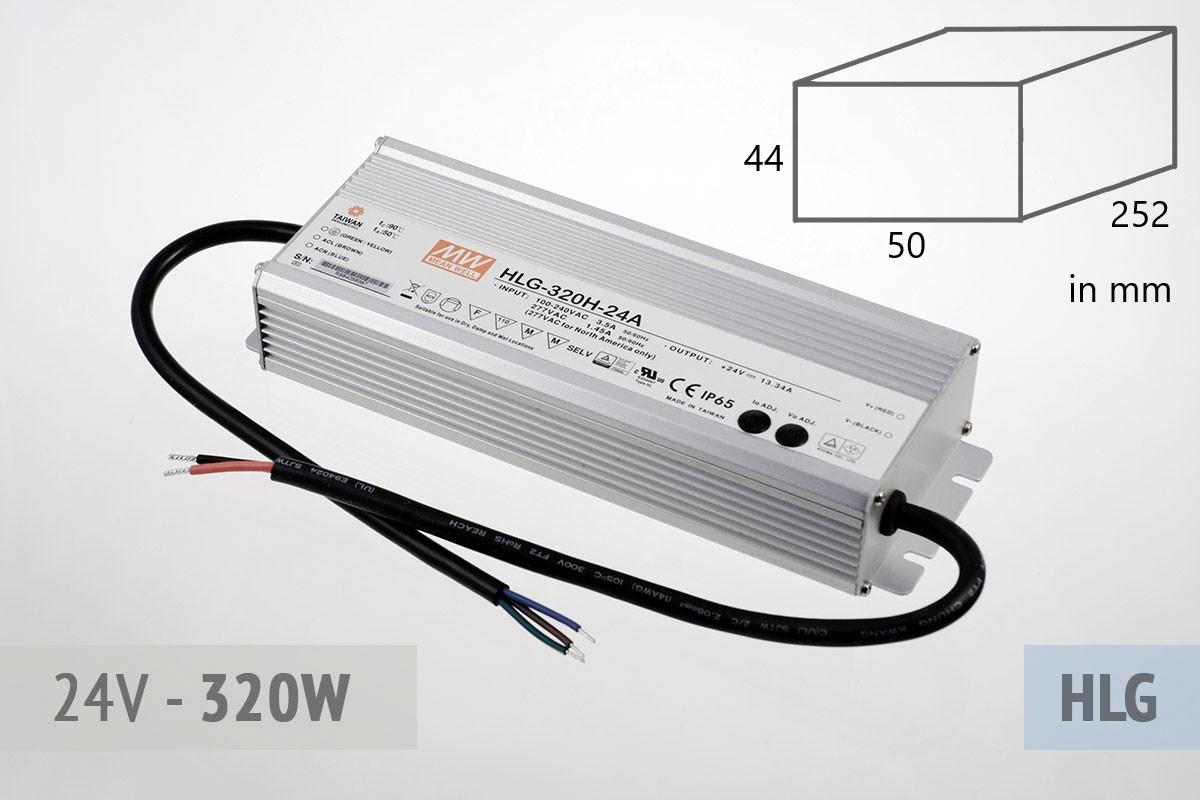 Netzteil 24V - 13A - 320 Watt, extrem leise