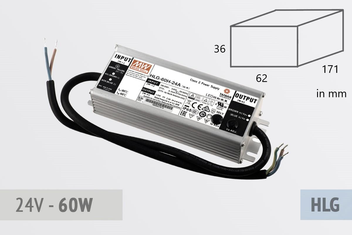 Netzteil 24V - 2.5A - 60 Watt, extrem leise