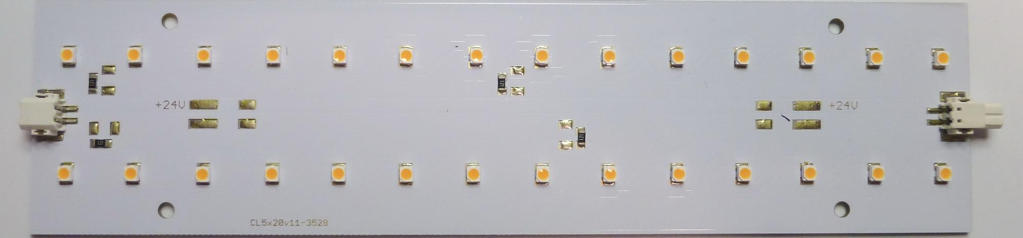 LED-Modul Platine 50x200mm, 2700K, 24V-LED218e