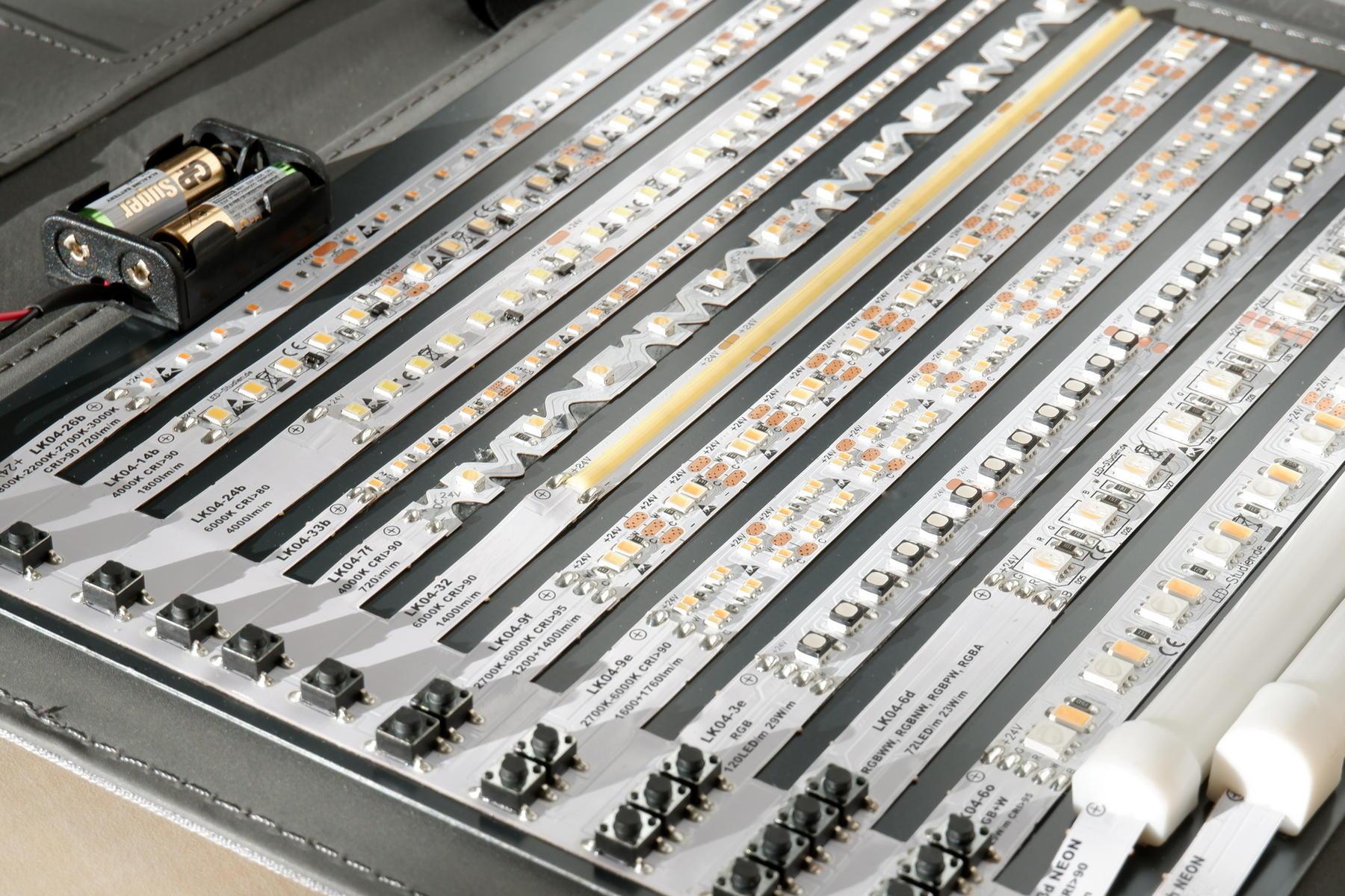Mustermappe LED-Streifen