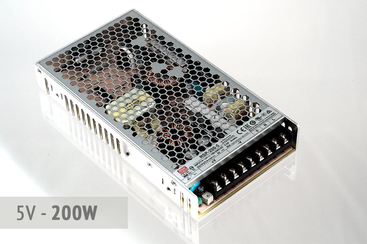 Netzteil 5V - 40A - 200 Watt   lüfterlos