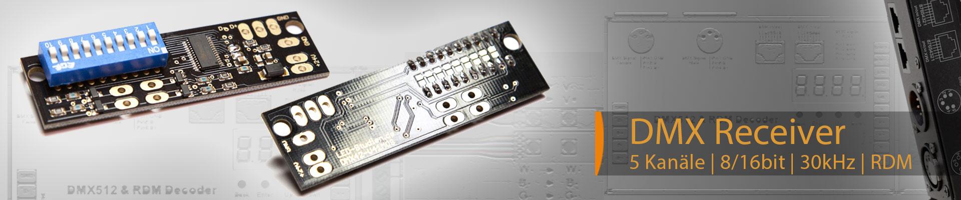 mini und micro DMX Receiver 1-4 Kanäle einstellbar