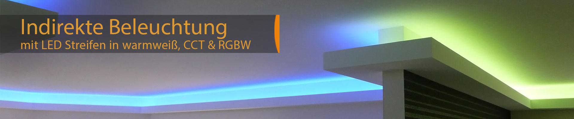 indirekte Wohnraumbeleuchtung mit LED