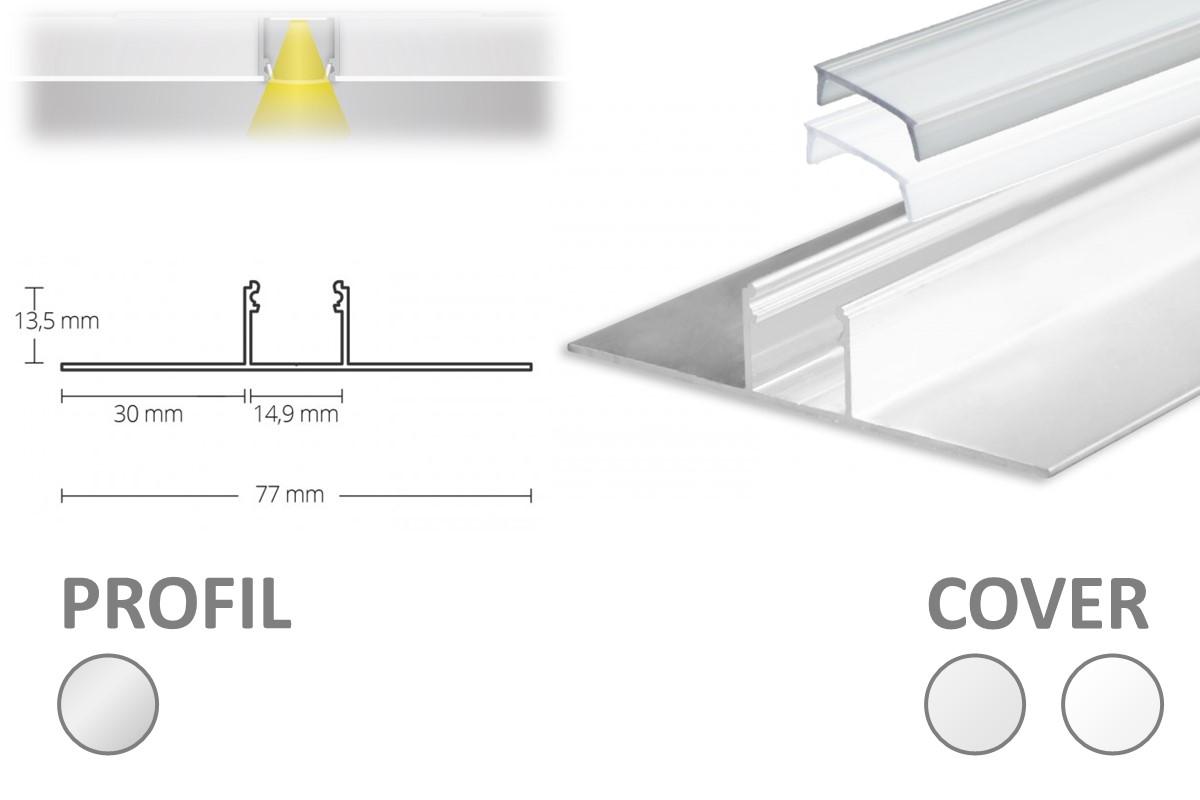 2m LED-Trockenbauprofil TBP3 - nur auf Anfrage!