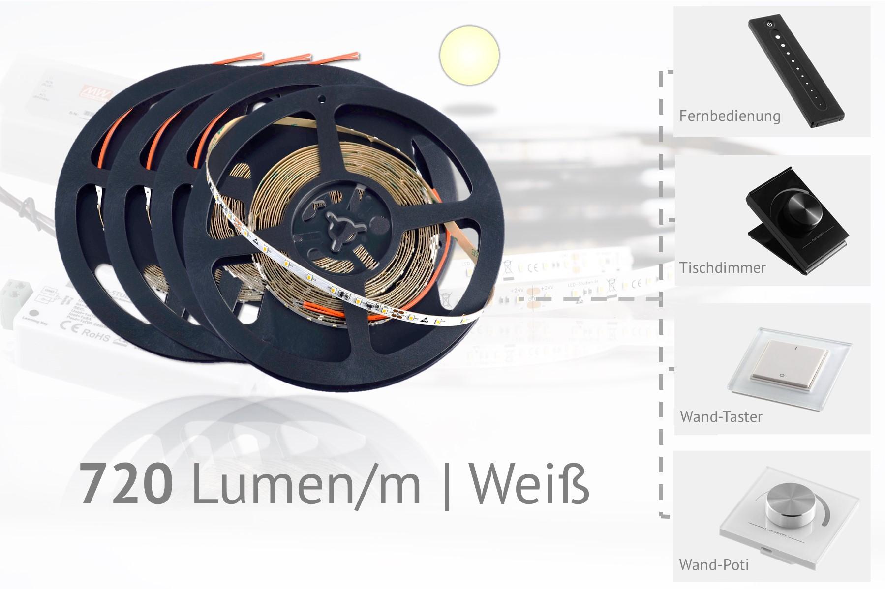 Set für Akzentbeleuchtungen - weiße LEDs