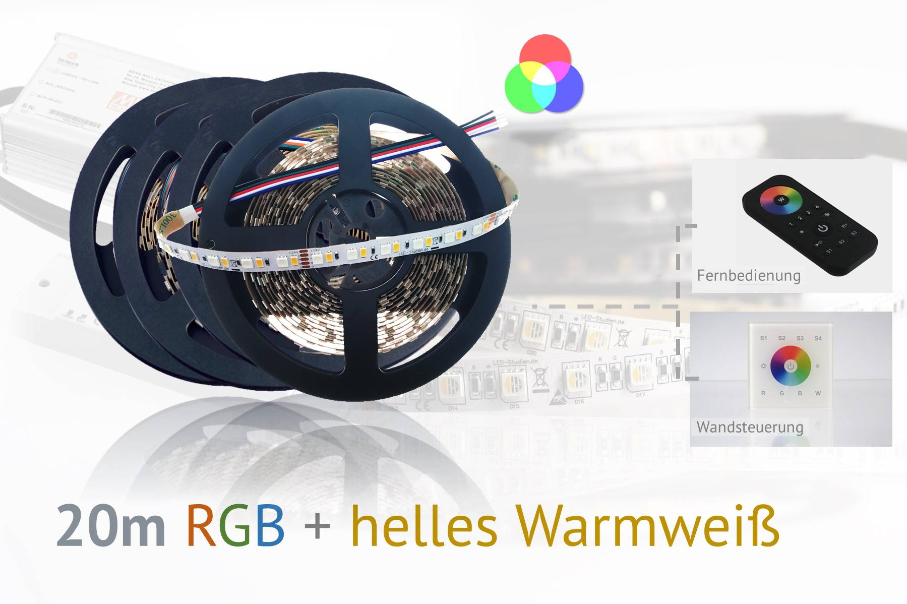 RGB+WW LED-Set: 20 Meter