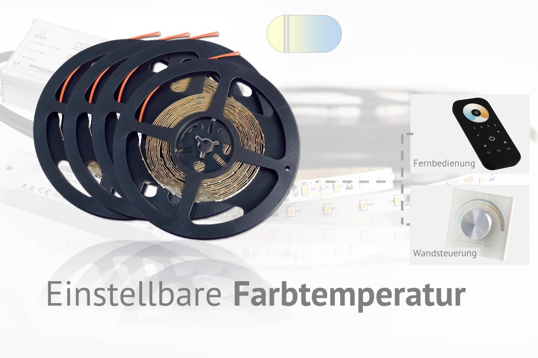 Set für einstellbare Farbtemperatur, warmweiß/kaltweiß